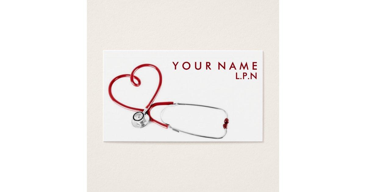 Compassionate Nurse Business Card   Zazzle.com