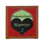 Compassionate Warrior Desk Organizer