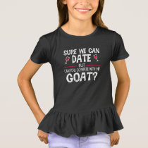Compete With My Goat Funny Dating T-Shirt