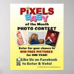 Competencia 16x20 de la foto del bebé de los pixel impresiones