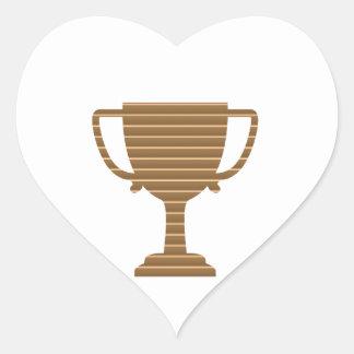 Competencia de deportes de los juegos del premio d pegatina de corazón