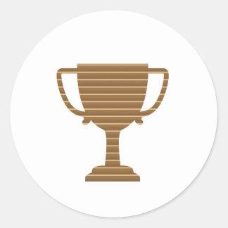Competencia de deportes de los juegos del premio pegatina redonda