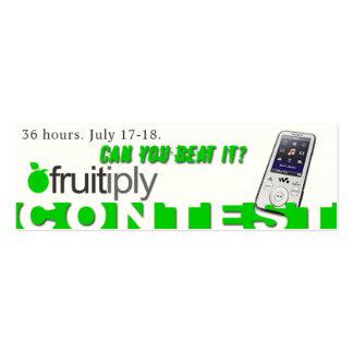 Competencia de Fruitiply Tarjetas De Visita Mini