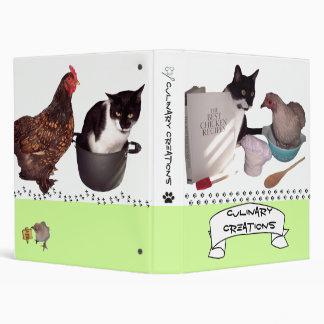 Competencia de la carpeta de la receta del gato y