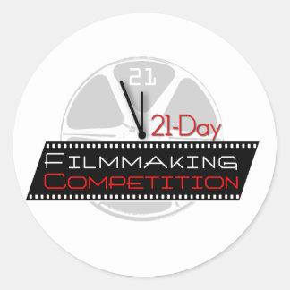 competencia de la cinematografía 21-Day Pegatina Redonda