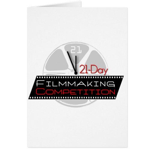 competencia de la cinematografía 21-Day Tarjeta De Felicitación