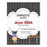 Competencia de la gimnasia tarjetas publicitarias