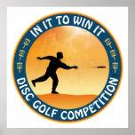 Competencia del golf del disco impresiones