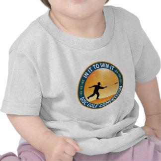 Competencia del golf del disco camiseta