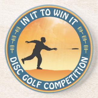 Competencia del golf del disco posavasos personalizados
