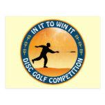 Competencia del golf del disco postales