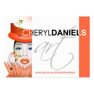 COMPETENCIA: Perfil del arte de Cheryl Daniels Tarjetas De Visita Grandes