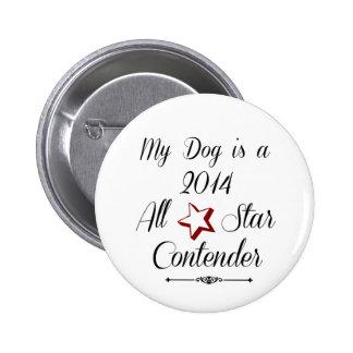 Competidor de All Star Pin Redondo 5 Cm