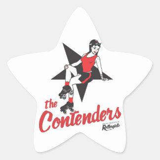 Competidores Calcomanías Forma De Estrellas Personalizadas