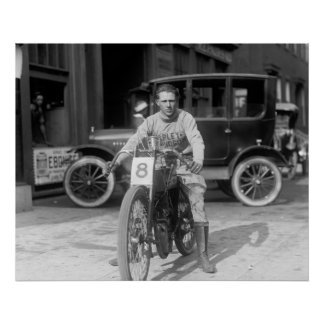 Competir con a Motorcycle, 1922 Impresiones
