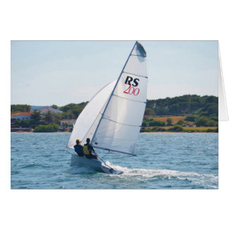 Competir con el bote a la velocidad tarjeta de felicitación