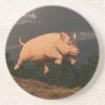 Competir con el cerdo posavasos personalizados