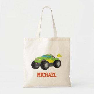Competir con el monster truck verde para los bolsa tela barata