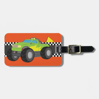 Competir con el monster truck verde para los etiquetas bolsa