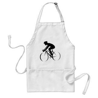 Competir con la bici delantales