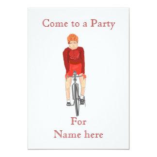 Competir con la invitación del fiesta del ciclista invitación 12,7 x 17,8 cm