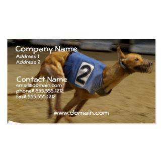 Competir con la tarjeta de visita del perro del ga