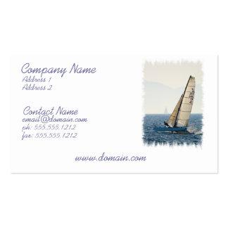 Competir con la tarjeta de visita del velero