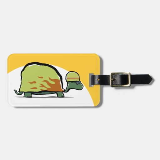 competir con la tortuga etiquetas para equipaje