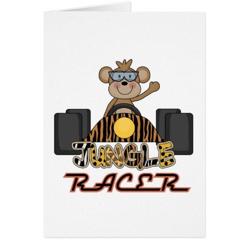 Competir con las camisetas y los regalos del mono tarjeta de felicitación