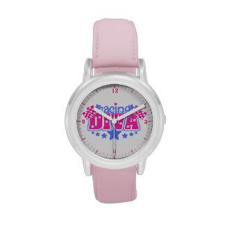 Competir con los relojes de los chicas de la diva