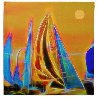 Competir con los veleros servilletas de papel