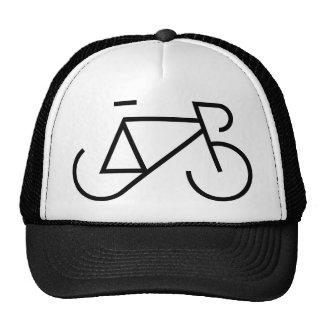 Competir con negro de la bici gorra