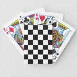 Competir con negro grande del modelo a cuadros de  barajas de cartas