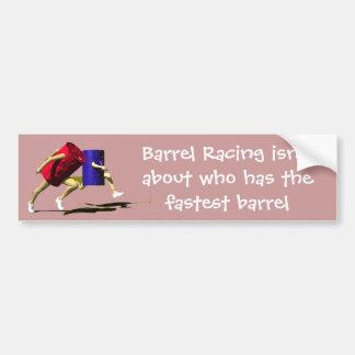 Competir con que compite con del barril - chicas - etiqueta de parachoque