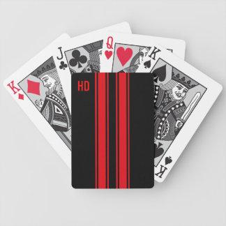 Competir con rayas barajas de cartas