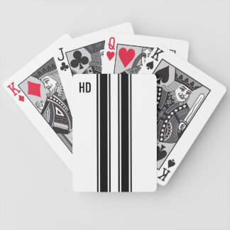 Competir con rayas cartas de juego