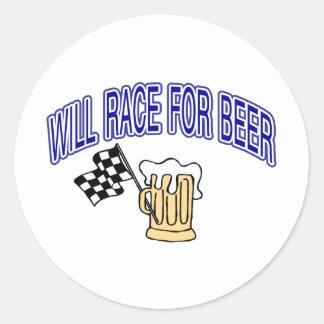 Competirá con para la cerveza pegatina redonda