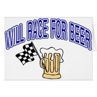 Competirá con para la cerveza tarjeta de felicitación