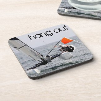Competition Sailing Catamaran Picture Coaster