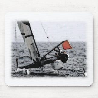 Competition Sailing Catamaran Picture Mouse Pad