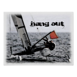 Competition Sailing Catamaran Picture Poster