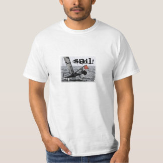 Competition Sailing Catamaran Picture T Shirt