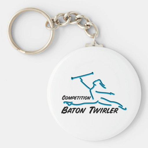 Competition Twirler Keychains
