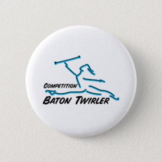 Competition Twirler Pinback Button