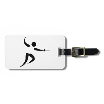 Valentines Themed Competitive and Olympic Fencing Pictogram Bag Tag