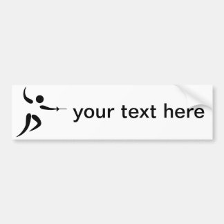 Competitive and Olympic Fencing Pictogram Bumper Sticker