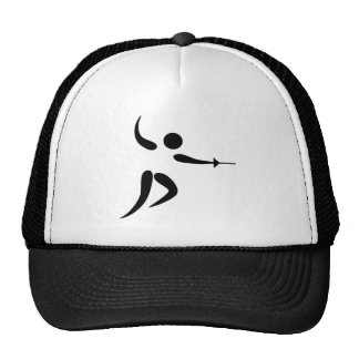 Competitive and Olympic Fencing Pictogram Mesh Hats