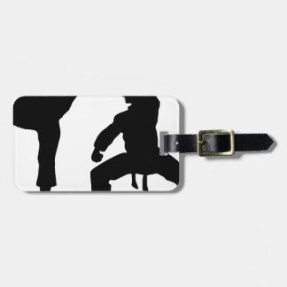 competitive athlete black luggage tag
