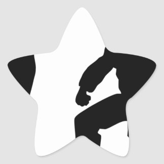 competitive athlete black star sticker