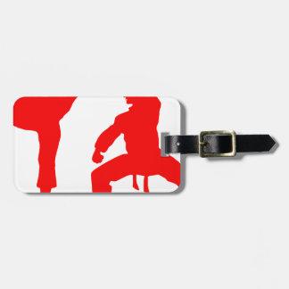 Competitive athlete-talk luggage tag